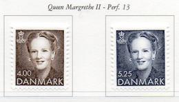 PIA - DANIMARCA  - 1996 : Uso Corrente : Regina Marghrete  -   (Yv 1133-34) - Danimarca