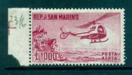 San Marino 1961 Helicopter & Mt Titano MLH Lot34837 - San Marino
