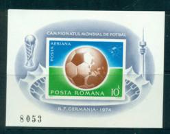 Romania 1974 World Cup Soccer Munich IMPERF MS MUH Lot57445 - 1948-.... Republics