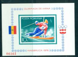 Romania 1976 Winter Olympics IMPERF MS MUH Lot57459 - 1948-.... Republics