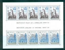 Monaco 1977 Europa, Landcapes MS MUH Lot65681 - Monaco