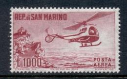 San Marino 1960 Airpost Helicopter MUH - San Marino