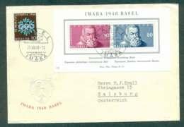 Switzerland 1948 IABA Stamp Ex Basel MS FDC Lot50396 - Switzerland