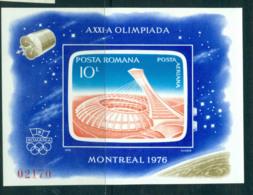 Romania 1976 Montreal Olympics IMPERF MS MUH Lot57465 - 1948-.... Republics