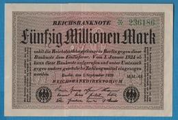 DEUTSCHES REICH 50 Millionen Mark01.09.1923SERIE # MM48  *236186 KM# 109b - [ 3] 1918-1933: Weimarrepubliek