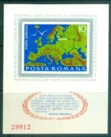 Romania 1975 ESCG, Helsinki Conference IMPERF MS MUH - 1948-.... Republics
