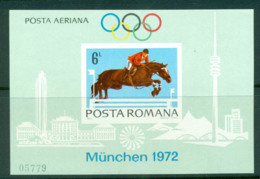 Romania 1972 Munich Olympics Equestrian IMPERF MS MUH Lot57423 - 1948-.... Republics