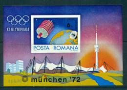 Romania 1972 Munich Olympics Satellite IMPERF MS MUH Lot57424 - 1948-.... Republics