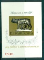 Romania 1975 Roman Monuments, Romulus & Remus IMPERF MS MUH Lot58746 - 1948-.... Republics