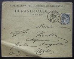 Nîmes 1894 Exploitation Des Carrières De Barbentane Durand Daudet (Gard) - 1877-1920: Période Semi Moderne