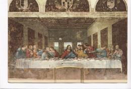 Leonardo Da Vinci, L'Ultima Cena, The Last Supper, Used Postcard [22841] - Paintings