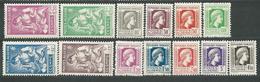 ALGERIE   N°  205/217  ** TB  4 - Algérie (1924-1962)