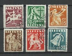 LITAUEN Lithuania 1940 Michel 437 - 442 O - Lituanie