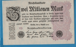 DEUTSCHES REICH 2 Millionen Mark 09.08.1923Serie VD KM# 104b - 2 Millionen Mark