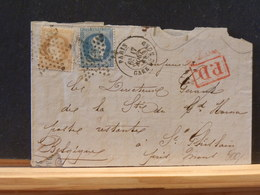 82/836  LETTRE   DE PARIS   ETOILE NR.26   GARE DU NORD POUR LA BELG. - Postmark Collection (Covers)