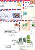 ASIE MARCOPHILIE LOT DE LETTRES DE DIVERS PAYS POUR L'ETRANGER  POIDS 130 GRAMMES - Stamps
