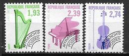 France 1990 Préoblitérés N° 210/212 Neufs Musique à 20% De La Cote - Préoblitérés
