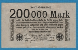 DEUTSCHES REICH  200.000 Mark 09.08.1923 KM# 100 - [ 3] 1918-1933 : República De Weimar
