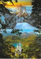Lot De 14 Cartes Géantes (21 X 14,5 Cm) Royal Castle, Königsschloss Neuschwanstein - Bayer Alpen - Schwansee Tiroler - Postkaarten
