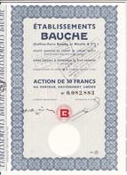 Th7LOT (16 Titres) : BAUCHE : Action De 30 Frs1963N° 4 - Other