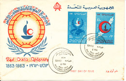 Egypt FDC 8-5-1963 Red Cross Centenary With Cachet - Egypt