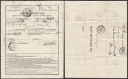 """BELGIQUE  AVIS DE RECEPTION """"AGENCE Nº7 BRUXELLES"""" 25/03/1910 VERS MARSEILLE  (DD) DC-2113 - Belgique"""