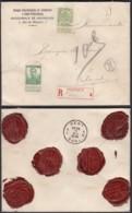 """BELGIQUE  COB 83+114 SUR LETTRE RECOMMANDE """"AGENCE 31 BRUXELLES"""" 13/12/1912 VERS GAND  (DD) DC-2114 - 1912 Pellens"""
