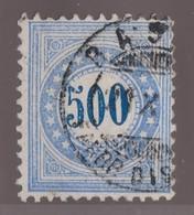 SUISSE Taxe 1878:   500 C. Bleu (ZNr 9 I K) Oblitéré - Portomarken