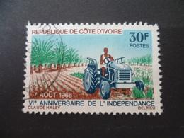 TIMBRE COTE D'IVOIRE  N° 253  OBLITERE   TRACTEUR  TRACTOR - Agriculture