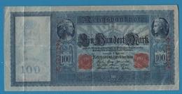 DEUTSCHES REICH 100 Mark  21.04.1910No G.2955294 KM# 42 - [ 2] 1871-1918 : German Empire