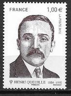 France 2012 N° 4635 Neuf Henri Queuille à La Faciale - France