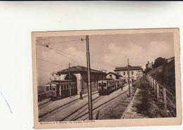 San Marino,Stazione Ferroviaria. Cart. Anni 30 Formato Picc. Al Retro Affrancata E Timbro Mostra Filatelica 1946 - San Marino