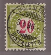 SUISSE Taxe 1894-96:   20 C. Vert-olive Clair (ZNr 19E II K) Oblitéré - Portomarken
