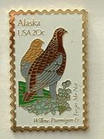 PIN'S TIMBRE - OISEAU - ALASKA  USA 20c - Animaux