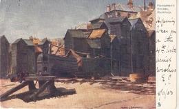 """Frank Emanuel . Fishermen's Stores, Hastings""  Tuck Oilette Quaint Corners Series PC # 1173 - Tuck, Raphael"
