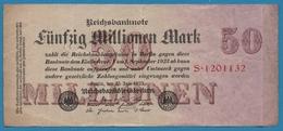 DEUTSCHES REICH 50 Millionen Mark  25.07.1923SERIE# S.1201132  KM# 98a - [ 3] 1918-1933: Weimarrepubliek
