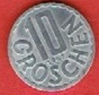 AUSTRIA  # 10 Groschen  FROM 1962 - Autriche
