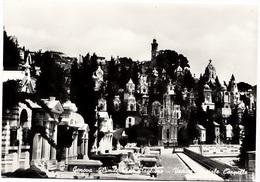 Genova, Genoa, Cimitero Di Staglieno, Veduta Partiale Cappelle, Unused Real Photo Postcard [22855] - Genova (Genoa)