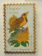 PIN'S TIMBRE - OISEAU - OREGON  USA 20c - Animaux