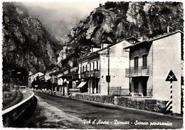 Italia, Val D'Aosta, Donnaz, Scorcio Panoramico, 1957 Used Real Photo, Vera Fotografia, Postcard [22856] - Italy