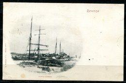 CARTOLINA CV2432 RAVENNA (RA) Porto Corsini, Formato Piccolo, Viaggiata 1899, Francobollo Asportato, Ottime Condizioni - Ravenna