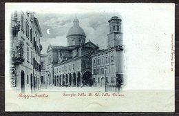"""CARTOLINA CV2434 REGGIO EMILIA (RE) Tempio Della B. V. Della Ghiara """"al Chiar Di Luna"""", Formato Piccolo, Viaggiata, Fran - Ravenna"""