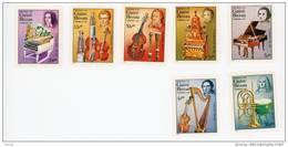 Guinée Bissau-1985-Chopin-Pergolesi-Schuman-Schutz-Handel...Instruments-série***MNH-Valeur 11 - Guinée-Bissau