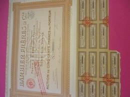 Action De 500 Francs Au Porteur/Barbier Fréres & Cie /SENS Sur YONNE/ /1924      ACT216 - Industrie