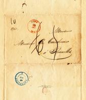 504/28 - CHARBONNAGES - Lettre Précurseur MONS 1844 Vers BRUXELLES - Taxée 6 Décimes , Corrigés En 5 Déc. - 1830-1849 (Belgique Indépendante)