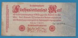 DEUTSCHES REICH 500.000 Mark25.07.1923Serie # 7P.062981  KM# 92 - 1918-1933: Weimarer Republik