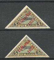 Estland Estonia 1923 Michel 42 A + B MNH/MH - Estonie