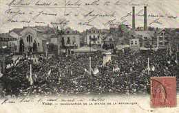 VICHY Inauguration De La Statue De La Republique   RV - Vichy