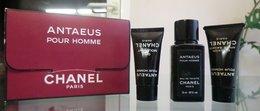 COFFRET ANTAEUS HOMME - EDT 19 ML + Gel Moussant 7 ML + After Shave 7 ML CHANEL - Miniatures Hommes (avec Boite)