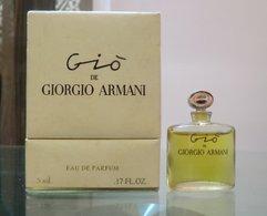 GIO BOITE LUXE - EDP 5 ML De GIORGIO ARMANI - Miniatures Modernes (à Partir De 1961)